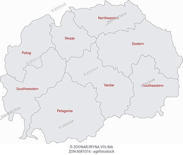 Grey Macedonia map