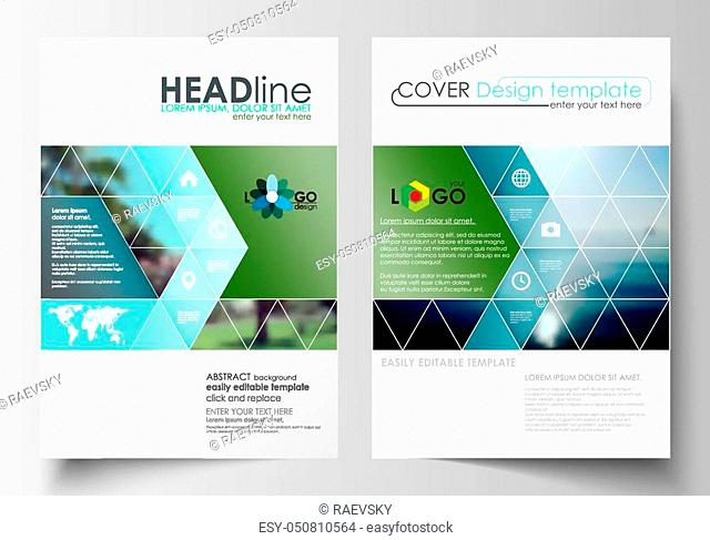Business templates for brochure, magazine, flyer, booklet. Cover design, abstract flat style travel decoration layout in A4 size, easy editable vector template