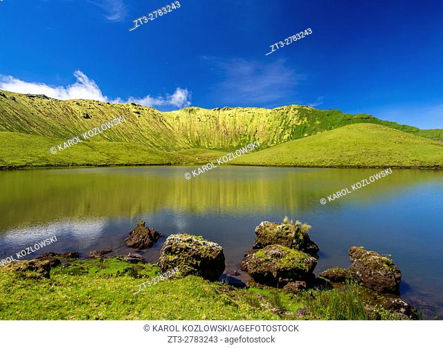 Portugal, Azores, Corvo, Landscape of the Caldeirao do Corvo