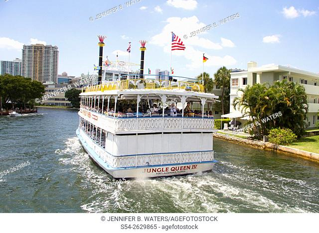 The Jungle Queen tourist boat in Fort Lauderdale, Florida, USA