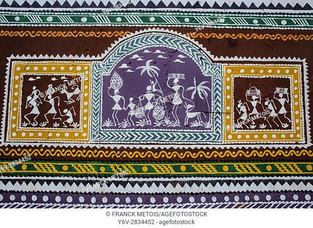 Mural painting at Koraput ( Odisha state, India)