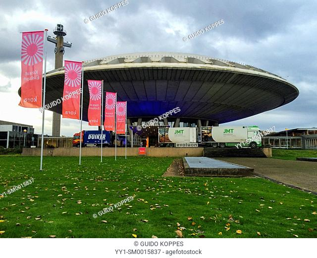 Eindhoven, Netherlands. The build by Phillips Evoluon hall, in use for exhibitions and events