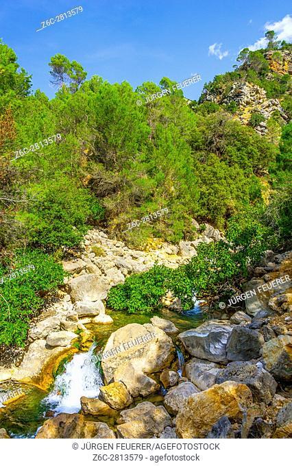 Hiking route along river Borosa in the Nature Park Sierra de Cazorla, Andalusia, Spain