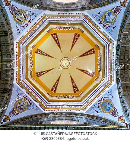 Ceiling. Ntra. Sra. de la Merced (our Lady of Mercy) Church. . Oaxaca. Mexico