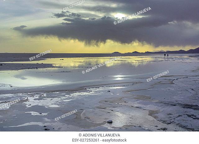 The Salar de Uyuni is the largest salt flat in the world
