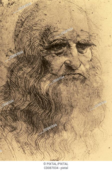 Leonardo da Vinci, italian painter, sculptor, architect and engineer (1452-1519)
