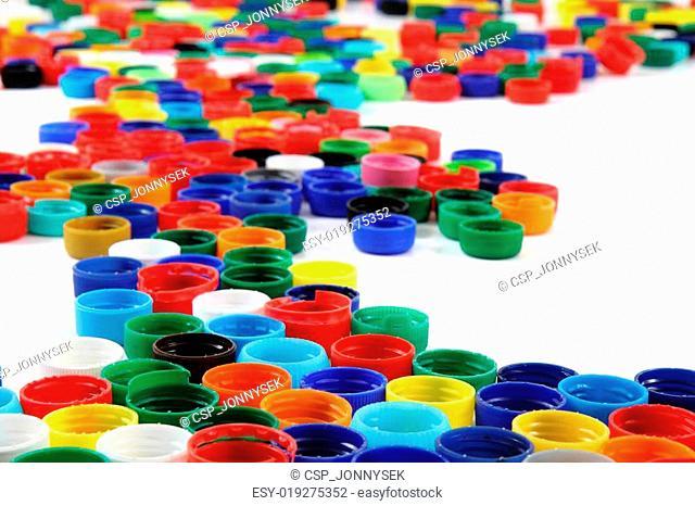 plastic color caps background