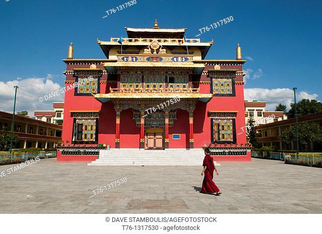 the Sheldrup Gompa at Bodhnath in Kathmandu, Nepal