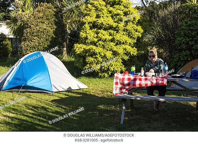 Okarito Campground in Okarito, South Island, New Zealand