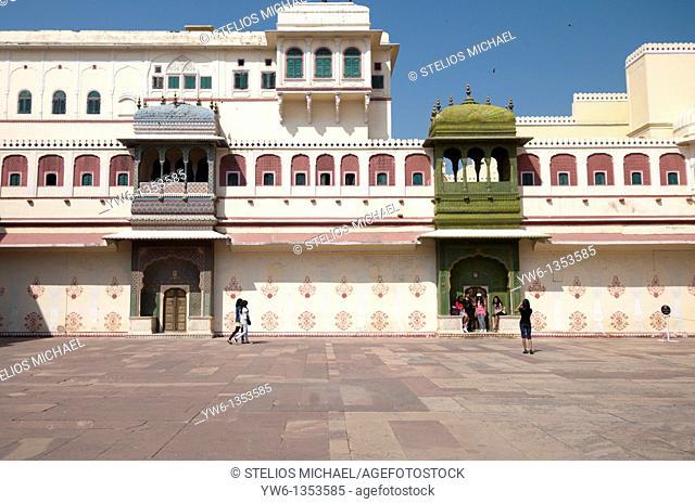Pitam Niwas Chowk at the Jaipur City Palace in Rajasthan