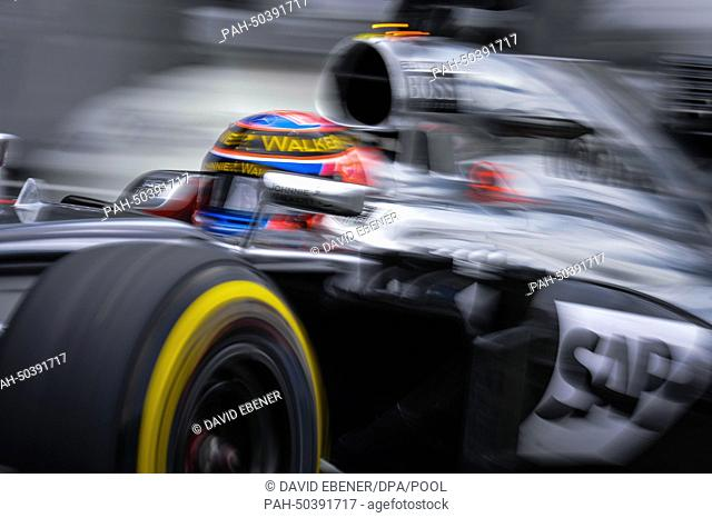 25691930f21 British Formula One driver Jenson Button from team McLaren Mercedes drives  on after a pit stop
