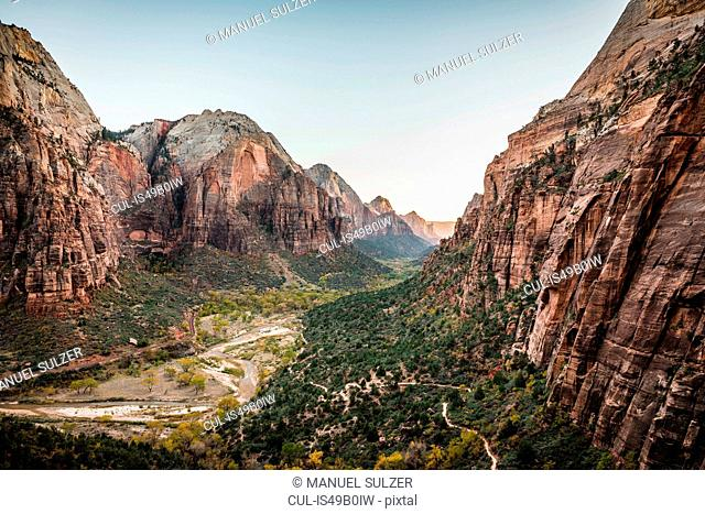 Angels Landing, Zion National Park, Springdale, Utah, USA