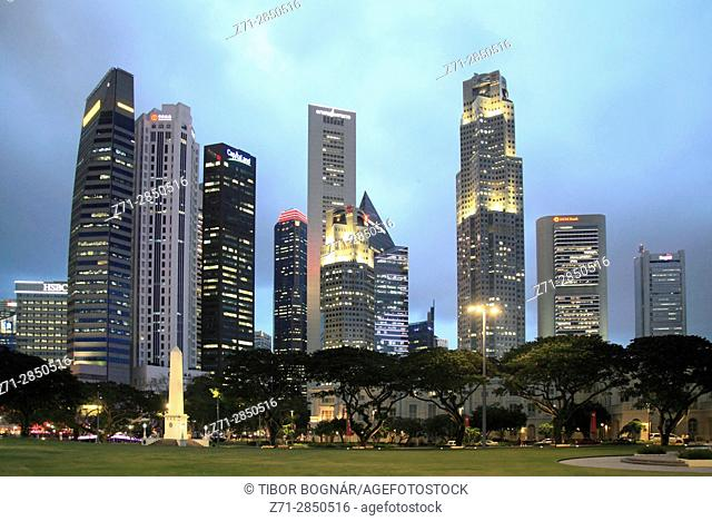 Singapore, Central Business District, skyline,