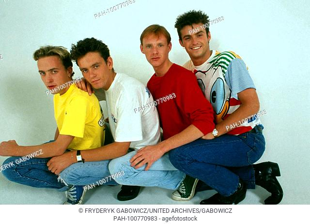 """""""""""Wet Wet Wet"""", britische Popband, in München, Deutschland 1987. British pop band """"Wet Wet Wet"""" at Munic, Germany 1987. 