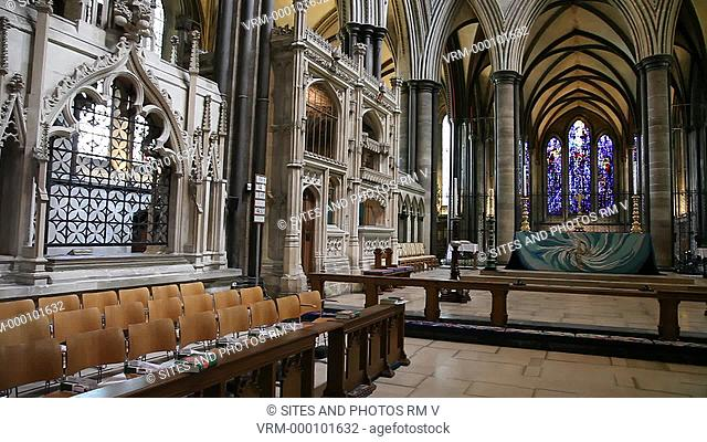 PAN, interior. The High Altar is where the bread and wine are blessed at most Sunday Communion Services. The different embroidered frontals appear during the...