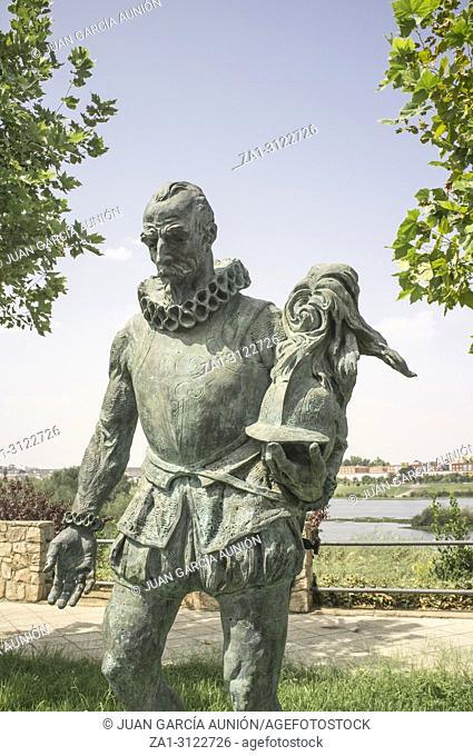 Pedro de Alvarado, Spanish Conqueror of Central America. Sculpture made by Estanislao Garcia