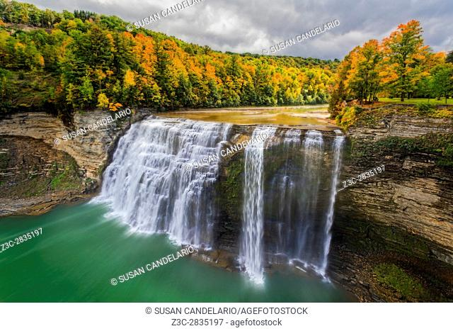 Middle Falls Letchworth State Park - Middle Falls is one of three large waterfalls found along the Genesse River at Letchworth SP in New York