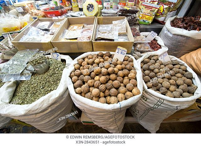 Muscat, Oman - Souq Muttrah Dry lemons and other items for sale in market
