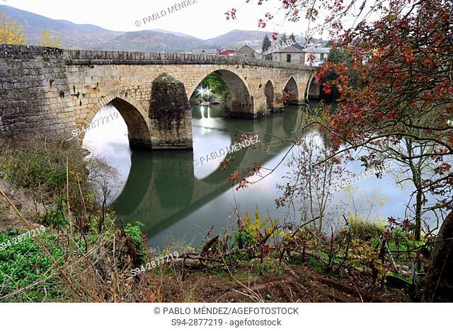 Medieval bridge of Petin, Orense, Spain