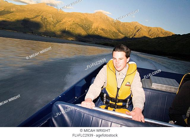 A jetboating adventure down the Wilkin River in Makarora, New Zealand