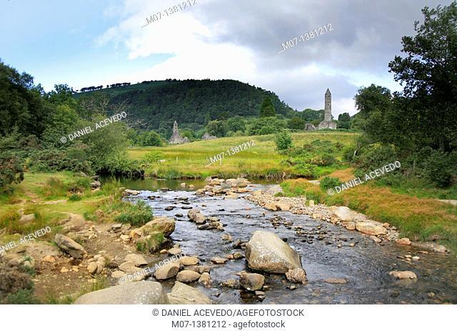 Glendalough river, Wiclow mountains, Ireland