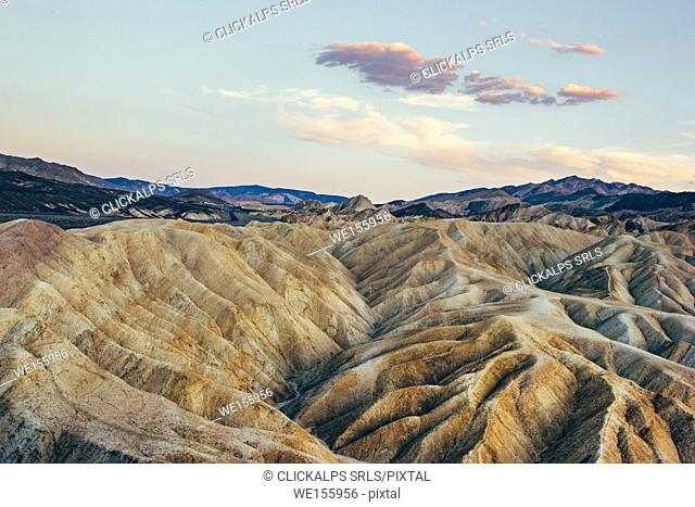 Sunset at the Zabriskie Point, Death Valley National Park - California