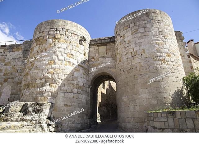 Zamora monumental town in Castile Leon, Spain. Dona Urraca gate