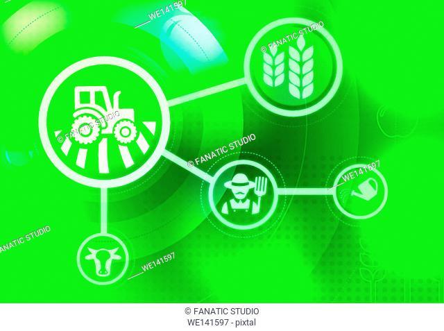 Illustrative representation of farming