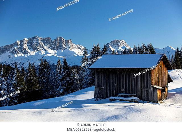 Winter's day in the skiing area Grüsch-Danusa