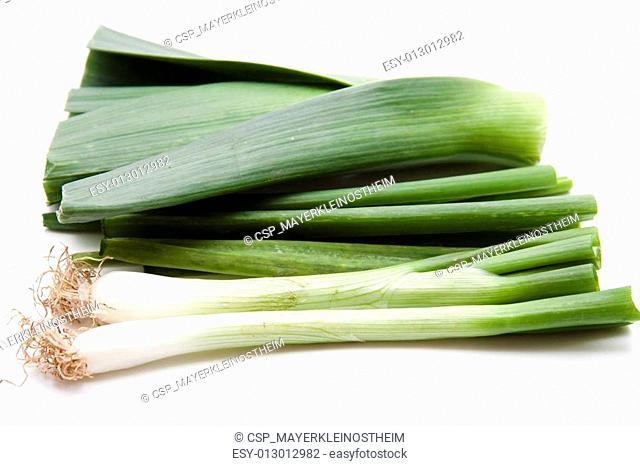 Green leek onion