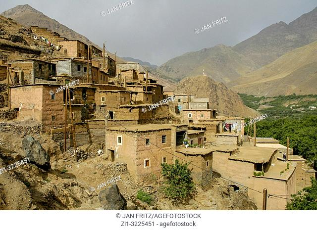 village in High Atlas in Maroc