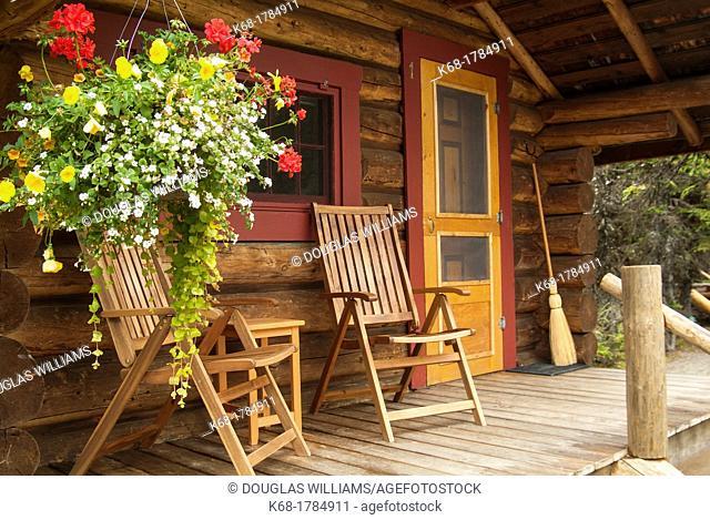 A cabin at Lake O'Hara, Yoho National Park, BC, Canada