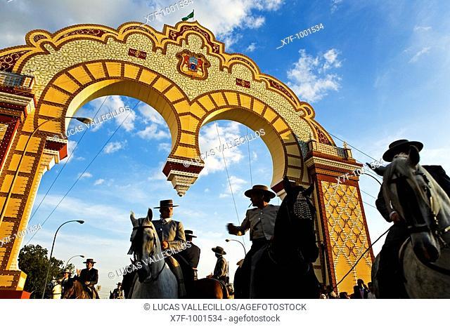 Feria de Abril The April Fair  'El Real'  Main gate  Seville, Andalusia, Spain