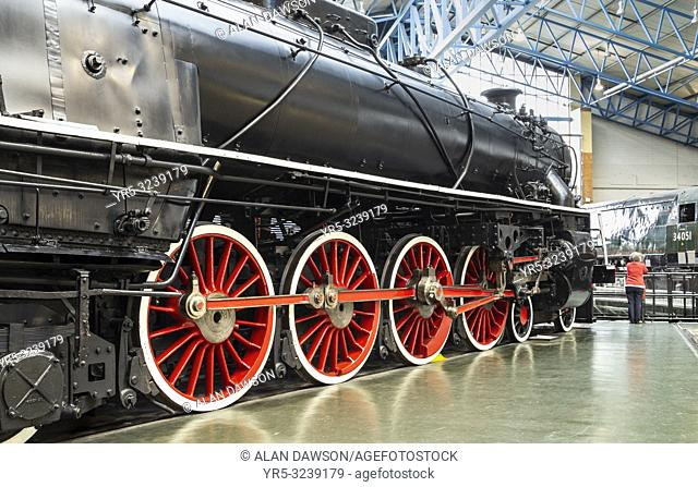 Chinese Government Railways Steam Locomotive 4-8-4 KF Class No 7 in The National Railway Museum, York, England, United Kingdom The train was buit for the...