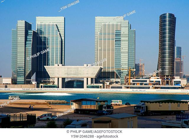 New development extends the business district of fast-growing Abu Dhabi, capital of the United Arab Emirates, to the northeast
