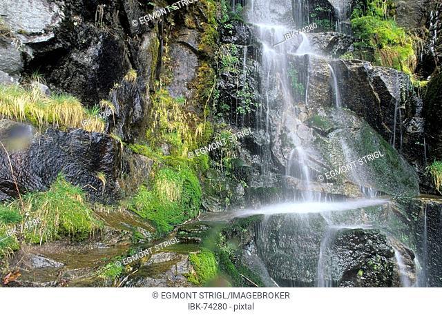 Small waterfall in Mount Rainier National Park, Washington State, USA