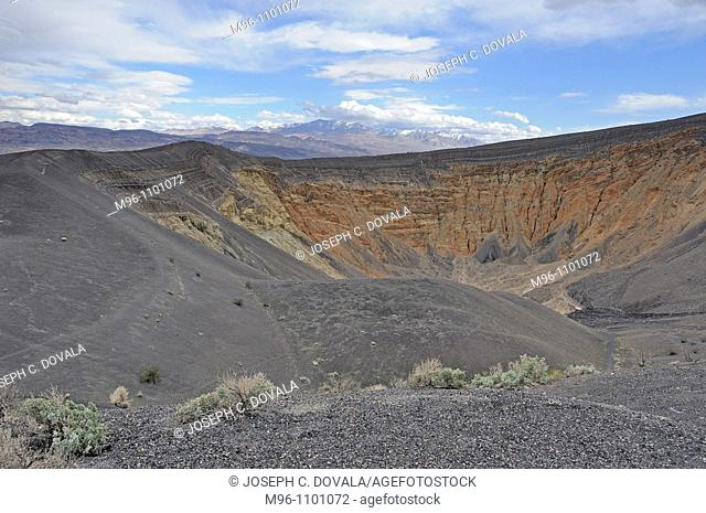 Ubehebe Crater, a volcanic explosion event, Death Valley National Park, California, USA
