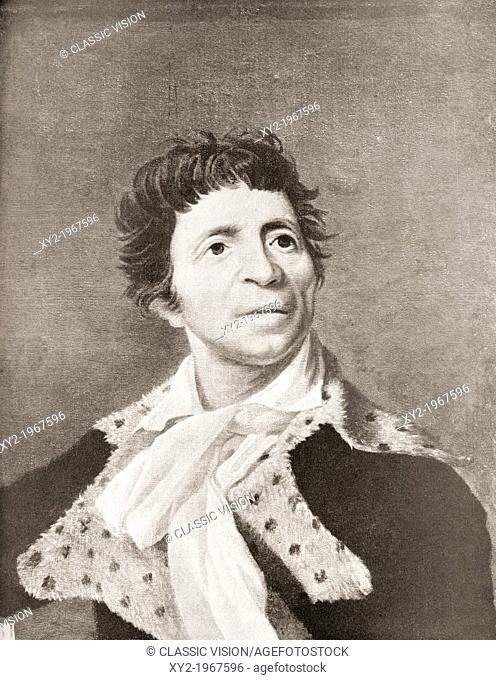 Jean-Paul Marat, 1743 - 1793. French physician, political theorist, scientist, radical journalist and politician during the French Revolution