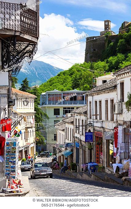 Albania, Gjirokastra, Ottoman-era town buildings