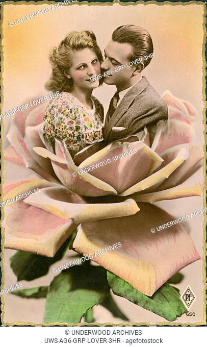 France: c. 1933.A French couples postcard