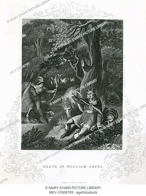 King William II is killed while out hunting in the New Forest. He was hit by a stray arrow fired by Walter Tyrell, Lord of Poix