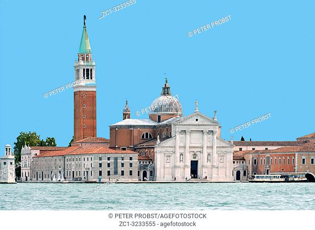 View from San Marco to Island of San Giorgio Maggiore in the Lagoon of Venice - Italy