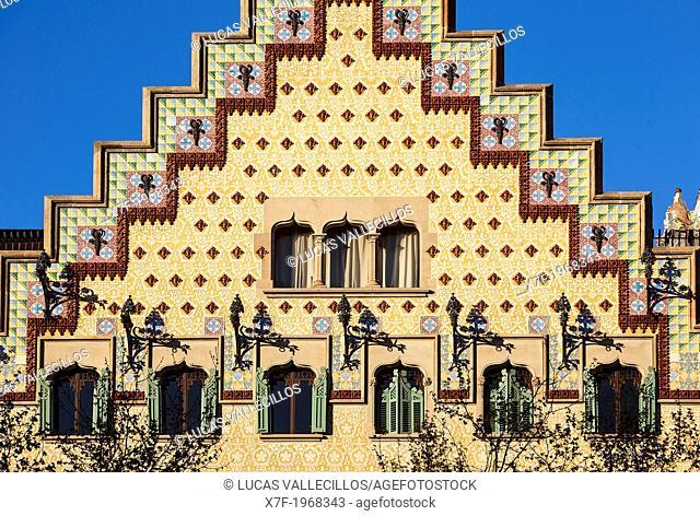 Casa Amatller by Josep Puig i Cadafalch at Passeig de Gracia. Barcelona. Spain