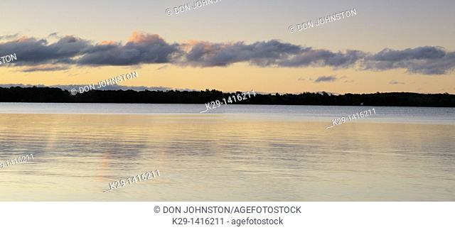 Morning skies reflected in Kagawong Lake