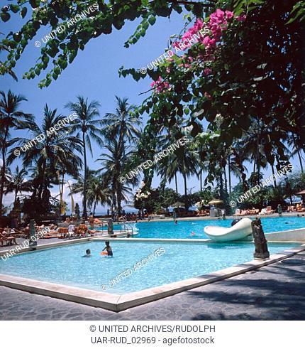 Urlaub im Luxushotel InterContinental auf Bali, Indonesien 1982. Holiday in the luxury hotel InterContinental on the island of Bali, Indonesia 1982