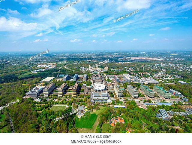Replacement new building IA / IB, University of Bochum, RUB, Campus of the University of Bochum, Bochum, Ruhr area, North Rhine-Westphalia, Germany, Europe