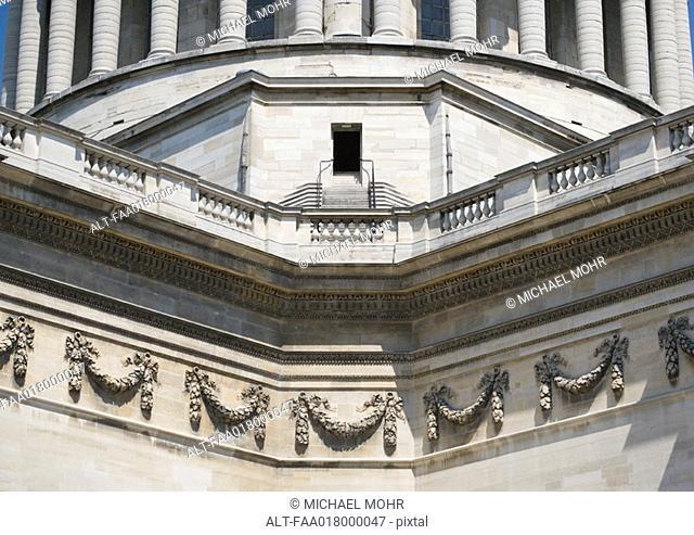 Paris, France, the Pantheon, close-up of decorative details