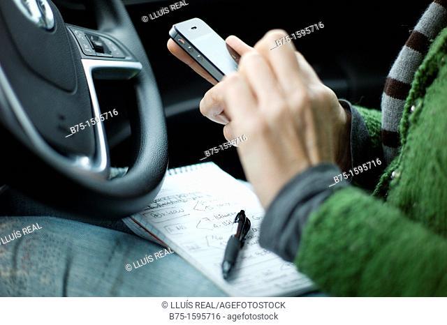 Using smartphone in car
