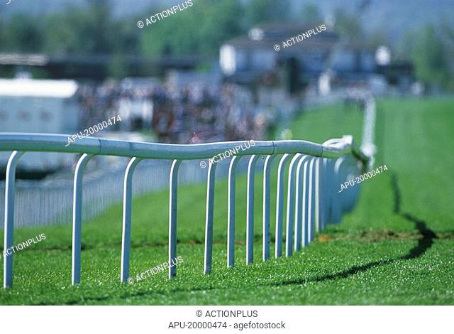 Close up view of a racecourse