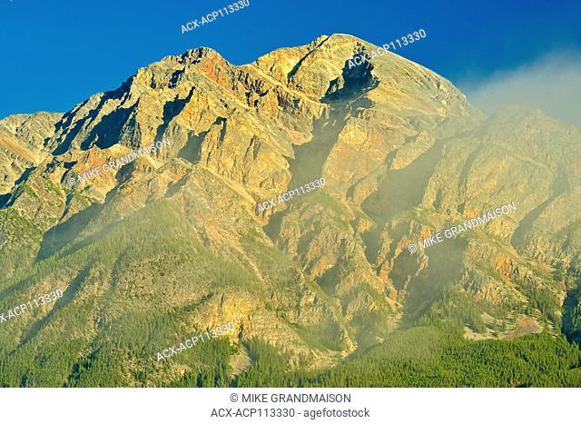 Pyramid Mountain at sunrise, Jasper National Park, Alberta, Canada